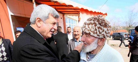 Başkan, köylülerle buluştu