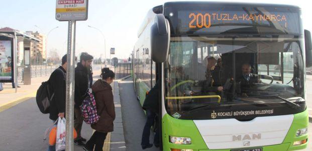 Bayram tatilinde belediye otobüsleri ücretsiz