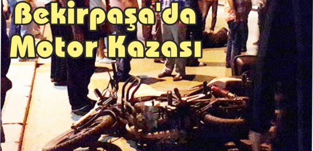Bekirpaşa'da Motor Kazası