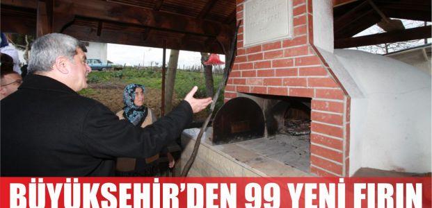 Büyükşehir'den köylere 99 yeni fırın