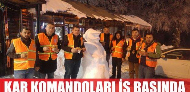 Büyükşehir'in kar komandoları iş başında