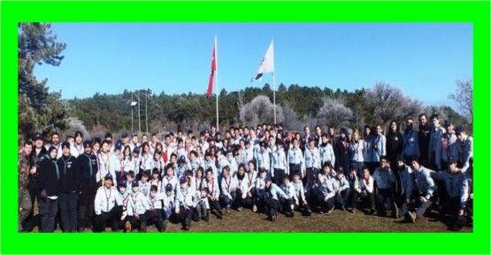 Büyükşehirli izciler kış kampına katıldı