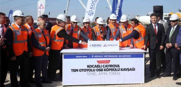 Çayırova OSB Köprülü Kavşağı temekli atıldı