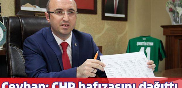Ceyhan; CHP'nin hafızası siliniyor