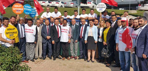 CHP IFF işçisine destek verdi