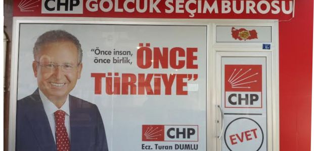 CHP'li Dumlu seçim bürosunu açtı