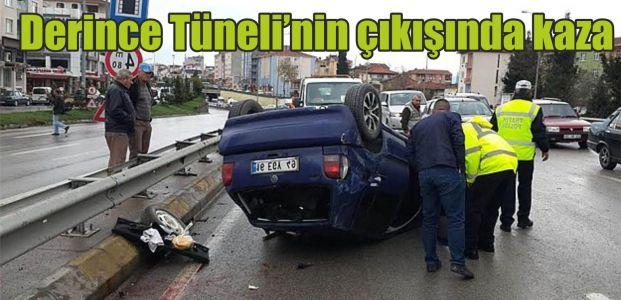 Derince Tüneli'nin çıkışında kaza