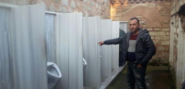 Tarihi Camideki Restorasyon Durduruldu