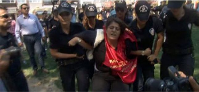 Gösteride gözaltına alındılar