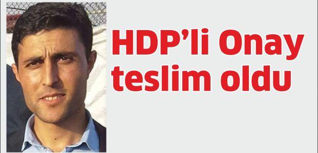 HDP'li Onay teslim oldu