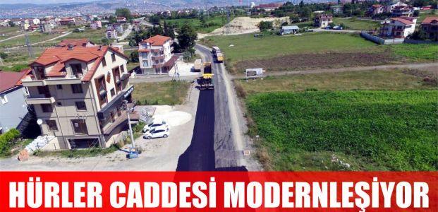 Hürler Caddesi modern hale getiriliyor
