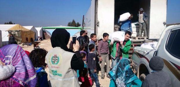 İHH'dan Suriyeli yetimlere yardım eli