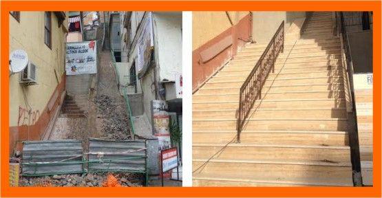 İzmit'te merdivenler güzelleşiyor