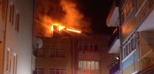 İzmit'te yangın paniği yaşandı