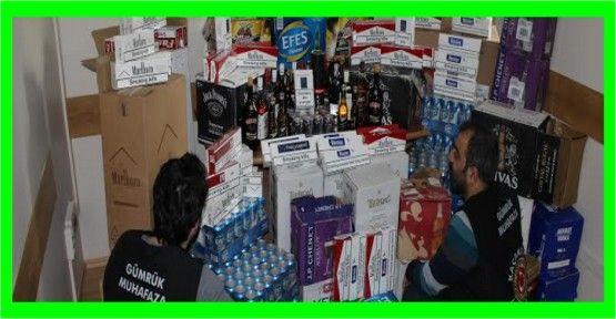 Kaçak sigara ve alkol operasyonu