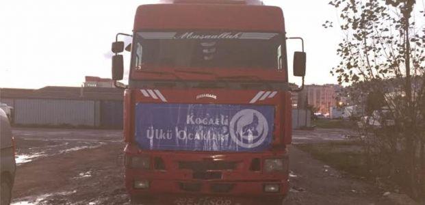 Kocaeli Ülkü Ocaklarının Tırları Türkmendağı'na Doğru Yola Çıktı