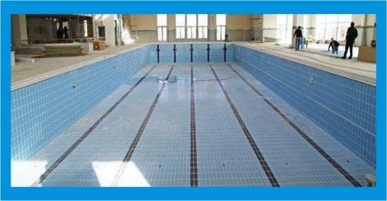 Körfez yarı olimpik yüzme havuzu hizmet için gün sayıyor