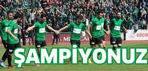 Şampiyonuz