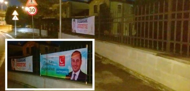 SP'nin afişleri iniyor AKP'nin ki niye inmiyor?