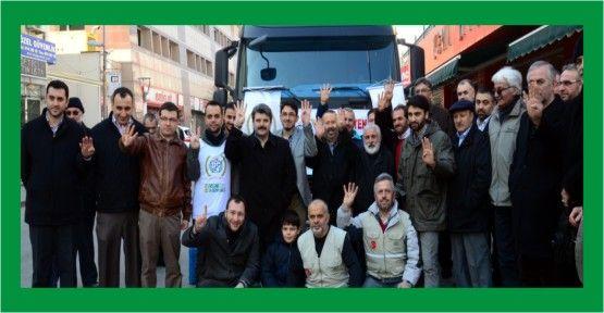 Suriye'ye yardımlar devam ediyor