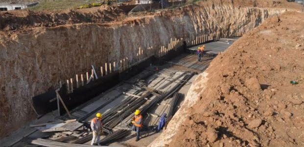 TEM Otoyolu Çayırova OSB Köprülü Kavşağı çalışması sürüyor