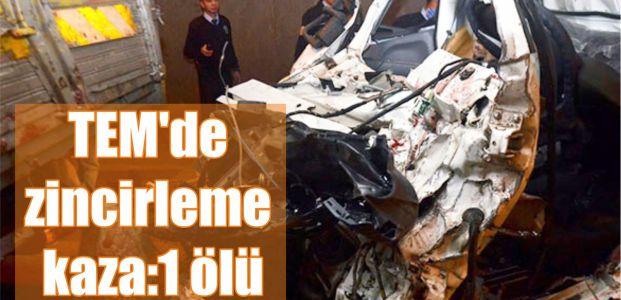 TEM'de zincirleme kaza:1 ölü