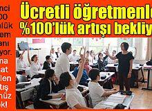 Ücretli öğretmenler, yüzde 100 ek ders ücret artışı bekliyor