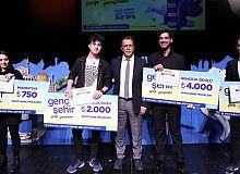 Genç Şehir Projesinde, ödüller sahiplerini buldu