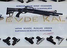 Silah ve mühimmatlar muhafaza altına alındı