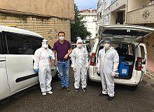 Darıca İlçe Sağlık Müdürlüğü personelleri Antikor ve PCR testi için sahada.