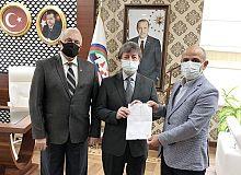 Yeni meclis üyesi Öztürk'ten Başkan Söğüt'e ziyaret