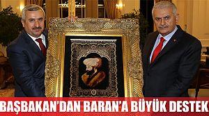 Başbakan'dan Baran'a büyük destek