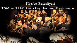 Körfez Belediyesi'nin Türk Halk Müziği Korosu Kayıtları Başladı