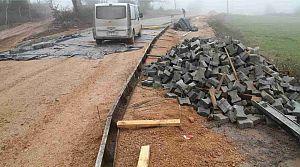 Körfez Sevindikli - Kutluca arasına beton yol