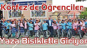 Körfez'de Öğrenciler Yaza Bisikletle Giriyor