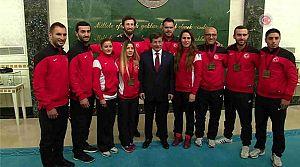 Tuba'lı Milliler Başbakan Davutoğlu'na Çıktı