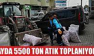İZMİT'TE AYDA 5500 TON ATIK TOPLANIYOR