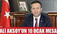 Vali Aksoy'un 10 Ocak mesajı
