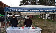 Büyükşehir, Perşembe Pazarı'na dezenfekte çadırı kurdu