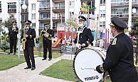 Bayramın coşkusu Bando takımının şarkıları ile yaşandı