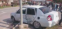 Araçta sıkıştılar 4 kişi yaralı
