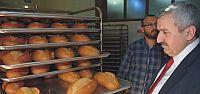 Başkan Baran Halk Ekmek Fabrikasını İnceledi