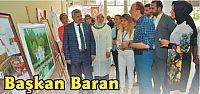 Başkan Baran Komek Yağlı Boya Resim Sergisinde