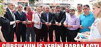 Gürsu'nun iş yerini Başkan Baran açtı