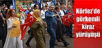 Kiraz festivali kortej yürüyüşü gerçekleşti