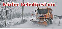 Körfez Belediyesinin Karla Mücadelesi Başladı