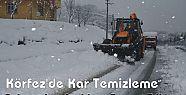 Körfez'de Kar Temizleme Çalışmaları Aralıksız Devam Ediyor
