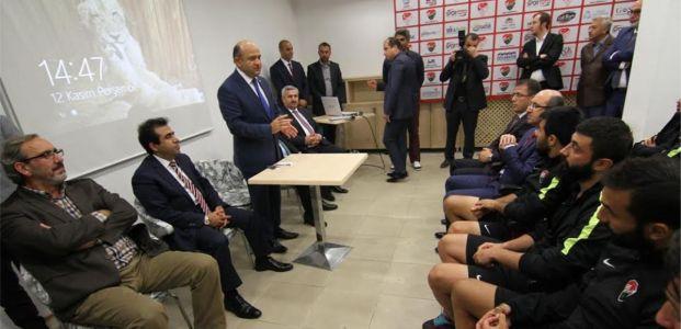 Tokatspor maçı öncesi Bakan Işık'tan, moral ziyareti