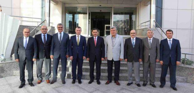 Topaca'dan Başkan Karaosmanoğlu'na veda ziyareti