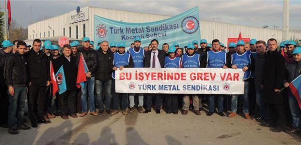 Türk Metal Sen greve çıktı